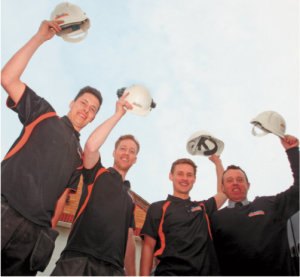 Former and current apprentices: Dan Maude, Nick Smith, Zack Beeks and Tim Werrell